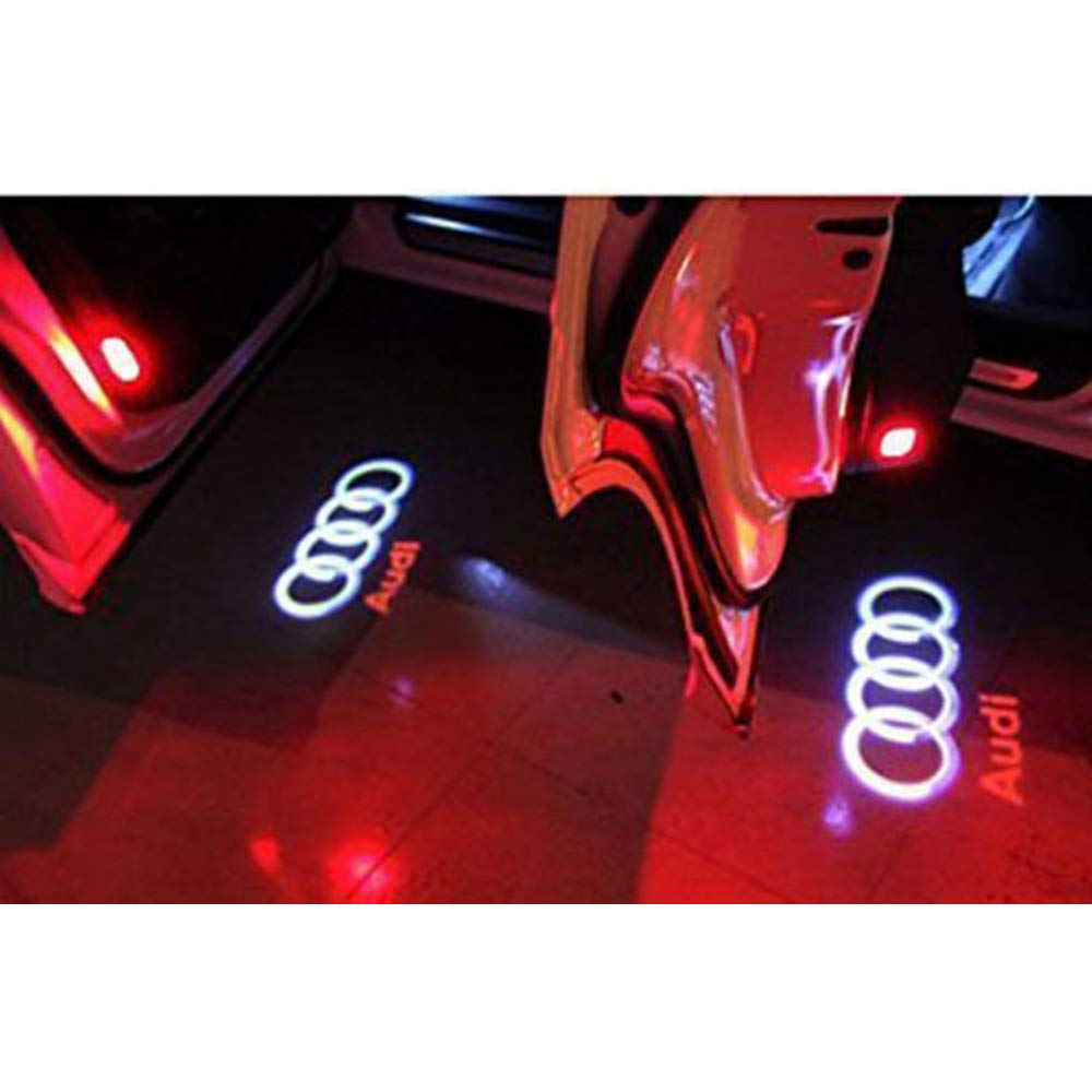 Bainuojia 4 pieces of LED projector door logo shade shadow Light welcome lamps Kit Lights