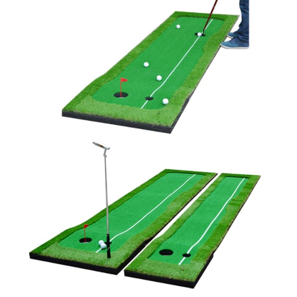 ファミリーゴルフマット メンズゴルフパッティンググリーン/マット - ゴルフトレーニングマット - プロゴルフ練習用マット - 屋内/屋外用ロングチャレンジングパター ゴルフグリーン (色 : 緑, サイズ : 0.5*3 meters+6 balls) 0.5*3 meters+6 balls 緑 B07SF5Y8LG