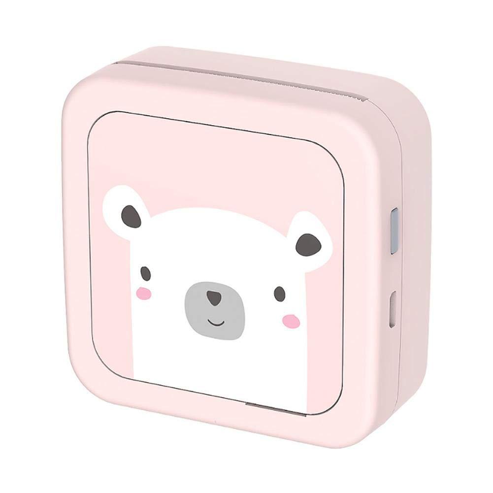 PROKTH Thermal Printer Social Media Photos Mobile Phone Photo Mini Wi-Fi Wireless Portable Printer Pink White by PROKTH
