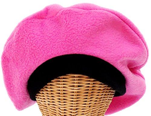 Fleece Beret in Pink