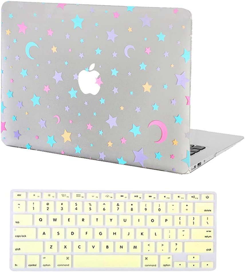 Velvet Caviar MacBook Air 13 inch Case Stars & Moon - Fits Model A1932 - Cute Clear Protective Hard Cases with Keyboard Cover