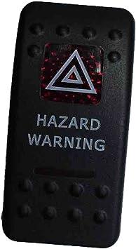 Mintice Trade 12v Kfz Wippenschalter Kippschalter Auto Schalter Rote Led Warnlicht Auto