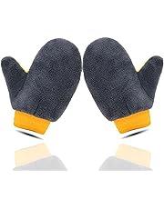 Geavanceerde autowashandschoenen, 2 stuks microvezel autowashandschoenen, beauty-autowashandschoenen, autoreinigingsgereedschap, zachte en pluisvrije autowashandjes