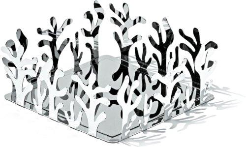 Alessi ESI18 Mediterraneo Paper Napkin Ho Holder, Silver by Alessi