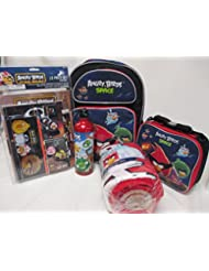 Angry Birds Space Large 16' Backpack Book Bag, Lunch Box & Pencil Pouch Set