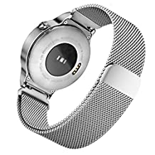Milanese Watchband, iitee Stainless Steel Mesh Band Magnetic Strap Bracelet for Huawei Smart Watch (silver)