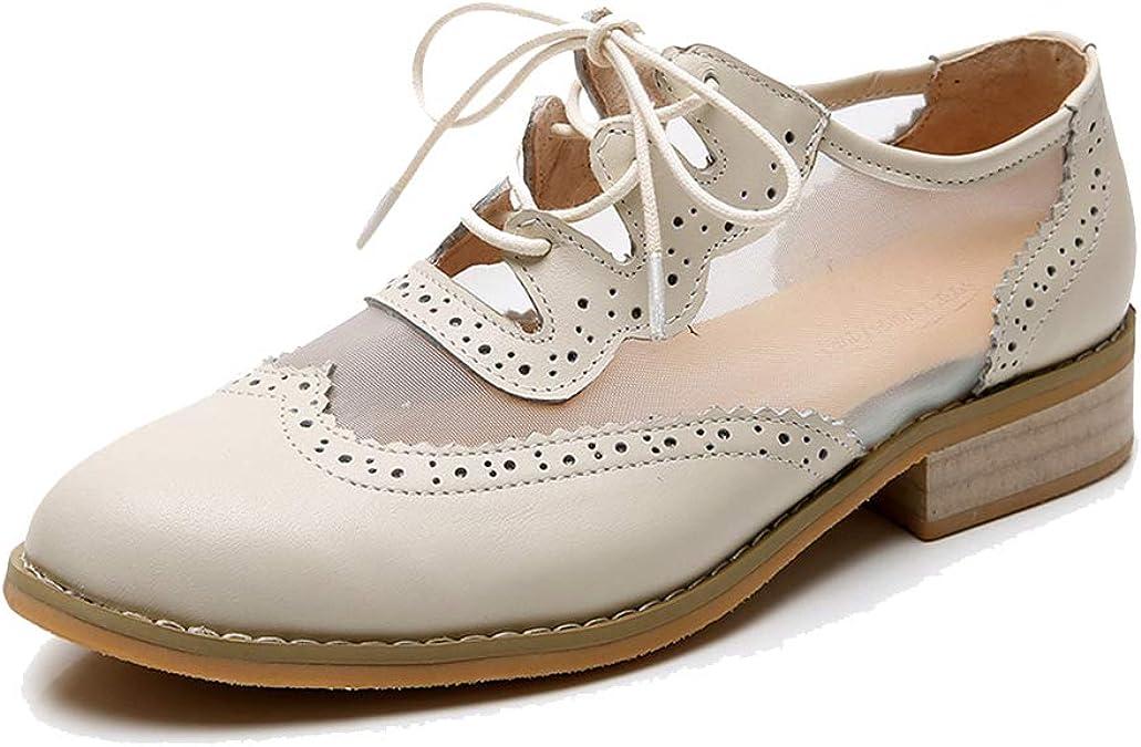 Hi-WISH Zapatos Oxford Planos para Mujer, Zapatos Oxfords de ...