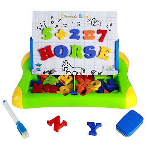 Magnetic Board Toy Drawing Board Game 2 in 1 with Magnetic Letters and Numbers Spelling Games for Kids Boys Girls (Combination Lightweight Board Write)