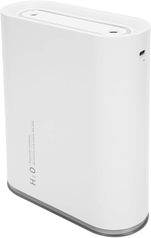Mxzzand Humidificador de Aire con Vida útil de la batería de Gran Capacidad 1L Humidificador de Niebla Diseño de Puerto de rociado Doble Humidificador de rociado Doble Habitación(White)
