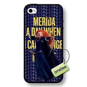 Disney Brave Princess Merida Hard Plastic Phone Case & Cover for iPhone 4/4s - Black