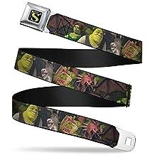 Shrek Seatbelt Belt - Shrek 4-Character Group/BEWARE OGRE Sign
