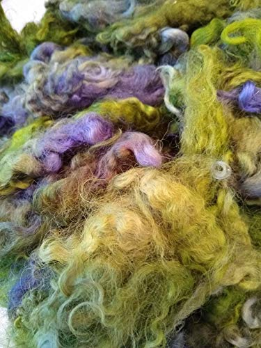 Mohair Fiber for spinning, roving, Fiber for hand spinning, Hand Dyed Mohair locks, 1 oz, Kid Mohair soft locks