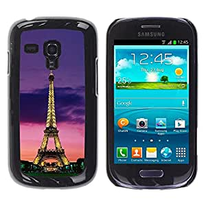 Be Good Phone Accessory // Dura Cáscara cubierta Protectora Caso Carcasa Funda de Protección para Samsung Galaxy S3 MINI NOT REGULAR! I8190 I8190N // Tower Architecture Lights Sky Ni