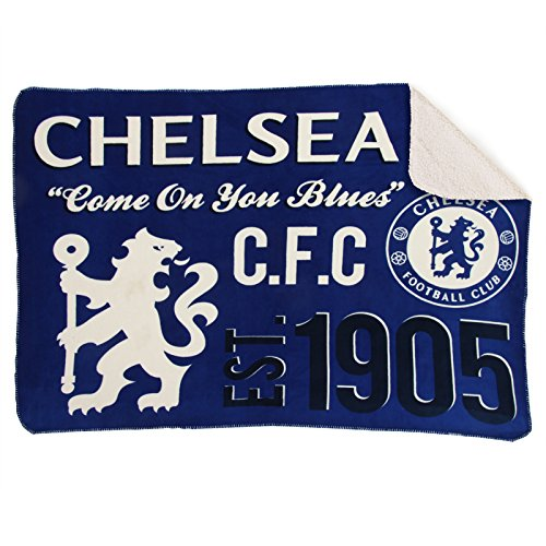 Official Chelsea FC Sherpa Fleece Blanket (Chelsea Fc Fleece Blanket)