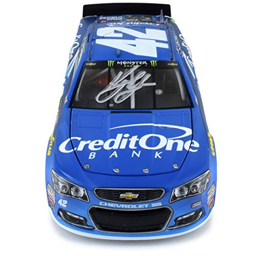 Autographed Kyle Larson 2017 Credit One Nascar Diecast 1 24 Scale   Only 97 Made
