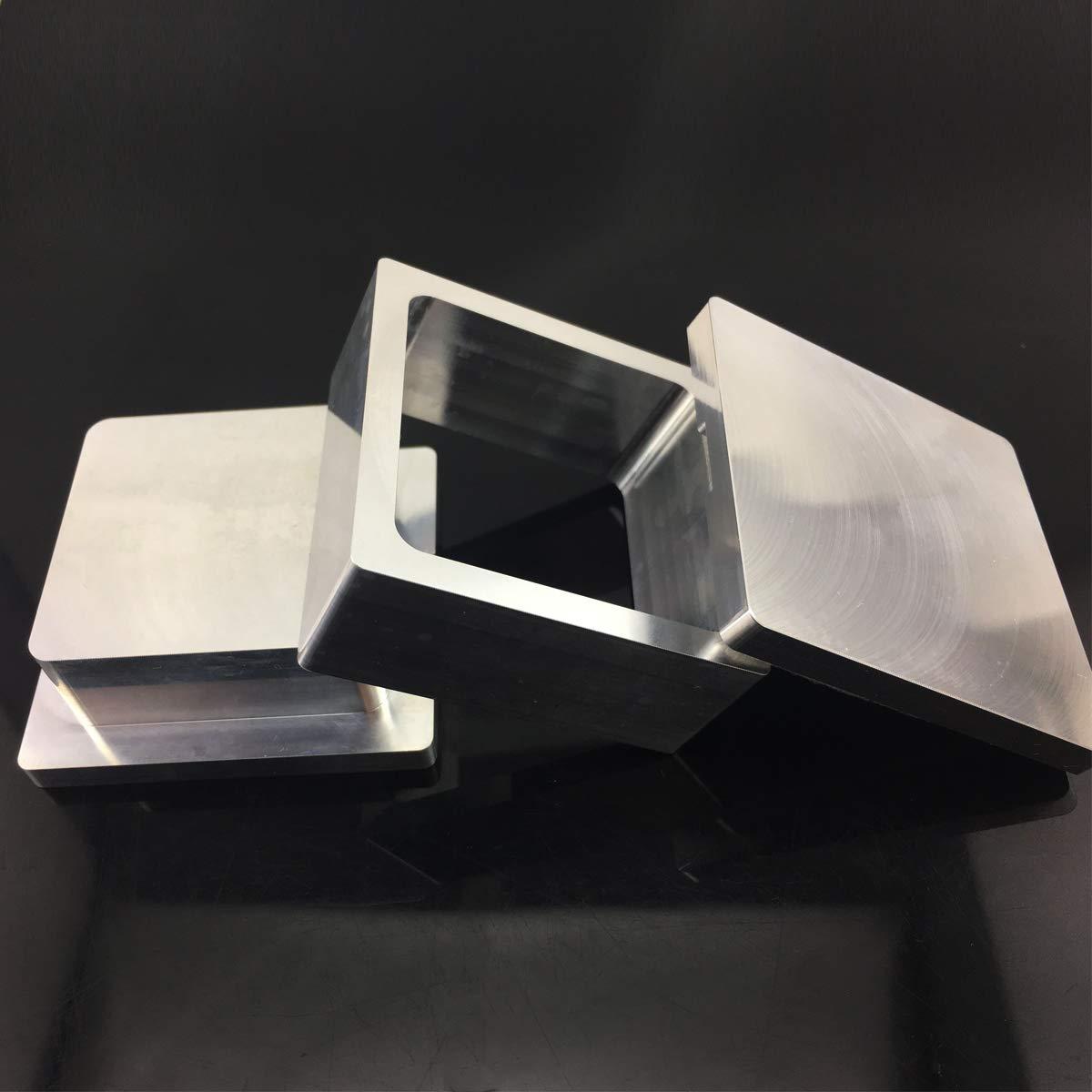 2.5x2.5 Pre Press Mold Oniche Pre Press Mold 2.5x2.5inch Flower Pressing Pre-Press Mold 2.5 X 2.5 Extraction 6061 Aluminum Mold