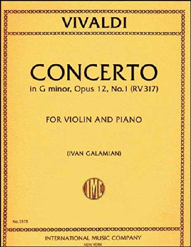 Concerto in G minor, RV 317, Op. 12, No. 1 for Violin (IMC2575)