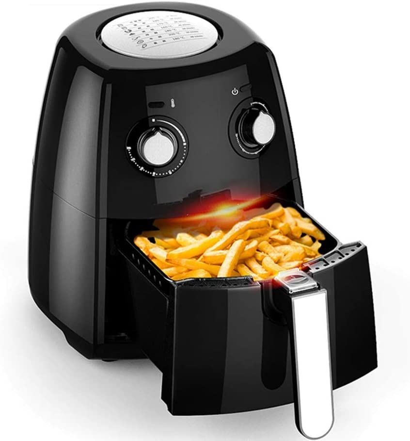 ZLJ Air fryers 1900W air Fryer with Fast air Technology for Healthy Cooking, Baking and Grilling Without Oil and Low Fat Content, 2.5 L - 1230 W - Black