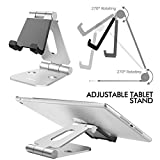 Nulaxy Dual Foldable Phone Stand, Multi-Angle Cell Phone Tablet Video Game Stand for Nintendo Switch iPhone X 8 7 6 Plus 5 5c, Accessories, iPad Universal for All Other Tablets Phones-Silver