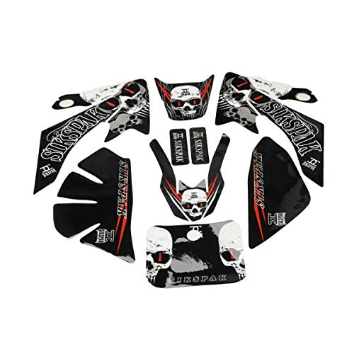 HML MOTO Customize Motorcycle Stickers Decals Graphics Kit for Honda CRF50 SSR DHZ SDG (Skull)