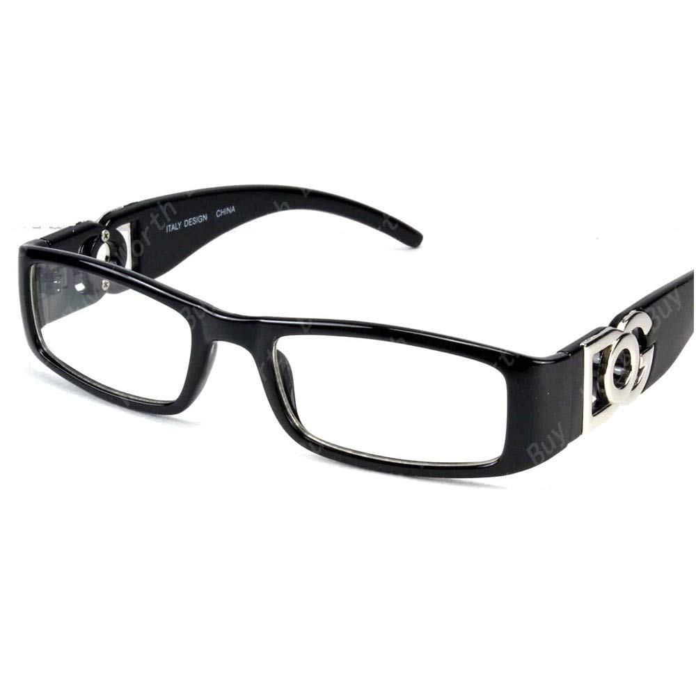 68a8d22e7b Amazon.com  DG Eyewear Clear Lens Glasses Fashion Mens Womens Designer  Rectangular Frame RX  Clothing