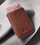 Woolnut Passport Sleeve - Cognac Brown