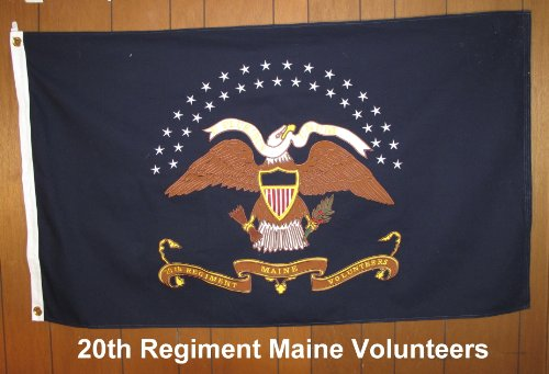 - USFLAGKING 20th Maine Cotton Flag 3'X5'