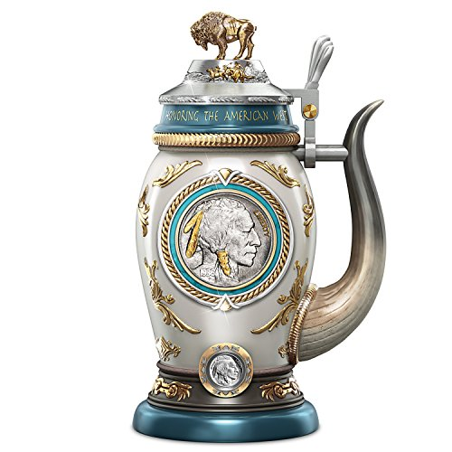Buffalo Nickel Porcelain Stein with Genuine Coin and James Earle Fraser's Design by The Bradford Exchange from Bradford Exchange