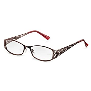 43dc2b4fd Amazon.com: Read Optics Womens Brown-Red Mulberry Colour Glamorous ...