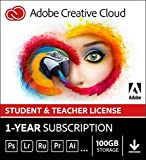 Adobe Student & Teacher Edition Creative Cloud | Validation Required | 12-Month Subscription with auto-renewal, PC/Mac