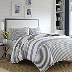 Nautica 220085 Fairwater Comforter Set,Blue,Full/Queen