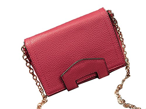 Top Shop Womens/Big Girls Chain Flap Totes Shoulder Envelope Bags Messenger Handbags Hobos Clutches,Red (French Outdoor Furniture Australia)