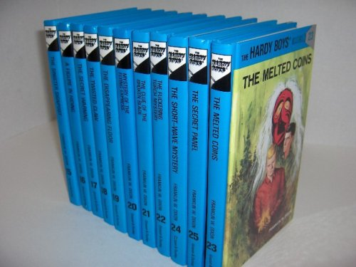 The Hardy Boys 11 Book Set Volumes 15-25: The Sinister Signpost/A Figure in Hiding/The Secret Warning/The Twisted Claw/The Disappearing Floor/Mystery of the Flying Express/The Clue of the Broken Blade/The Flickering Torch Mystery/The Melted Coins/The Short-Wave Mystery/The Secret Panel