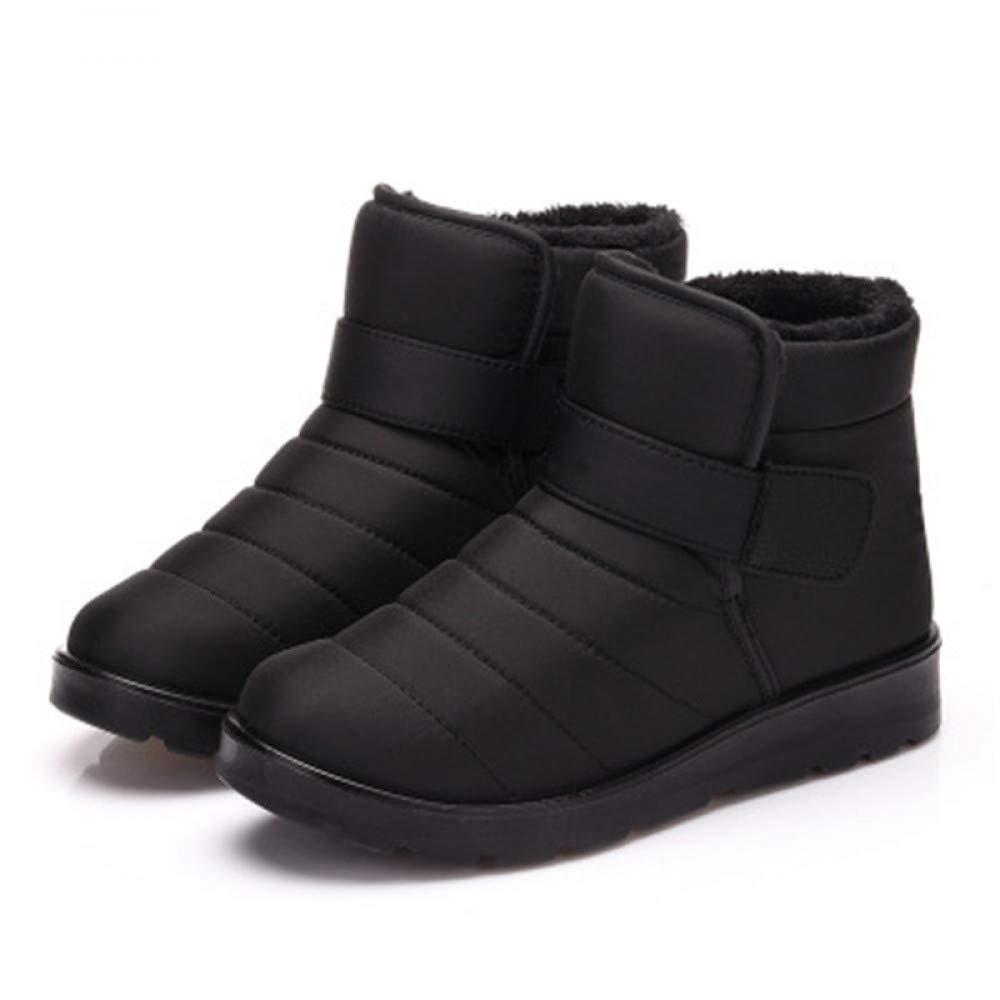 FHCGMX Weihnachten Winterschuhe Männer Schnee Stiefel Baumwolle Kurze Stiefelies Warme Stiefel Junge Stiefeletten Anti-Skid Flache Platfrom Slip On Schuhe