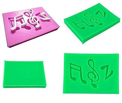 Inception Pro Infinite Molde de Silicona para Uso alimentario de Dos Notas Musicales y una Clave