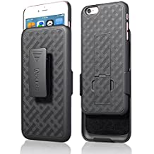 """Aduro Shell Holster Combo Case for Apple iPhone 6 Plus / 6S Plus 5.5"""" Screen Size with Kick-Stand & Belt Clip (At&t, Verizon, T-Mobile & Sprint)"""