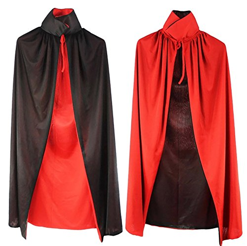 Midnight Bride Child Costume (Children Reversible Red Black Halloween Party Costume Vampire Cloak with Collar Medium)