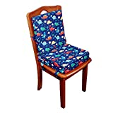 simpletome Chair Booster Seat Cushion Pad for Big Kids with 6 Safety Fixing Straps (Dinosaur)
