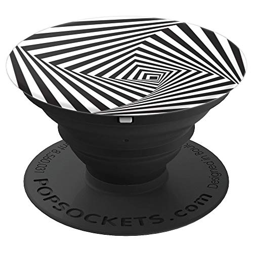 Square Swirl Optical Illusion - PopSockets Grip and Stand for Phones and Tablets ()