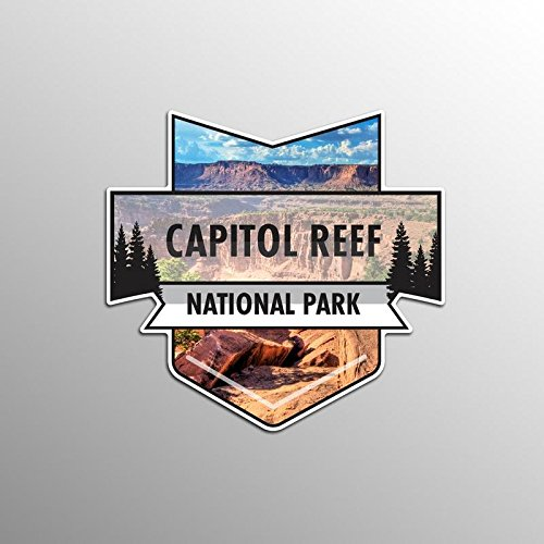 JMM Industries Capitol Reef National Park Vinyl Decal Sticker Car Window Bumper 2-Pack 4.7-Inches by 4.4-Inches Premium Quality UV Protective Laminate NPS010