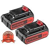 2Pack 3.0Ah 20V LBXR20 Battery for Black & Decker,Lithium Battery for B&D LBXR20-OPE LB20 LBX20 LBX4020 LB2X4020-OPE Cordless Power Tools