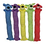 Multipet 's Original Loofa Jumbo Dog Toy in Assorted Colors, 24-Inch