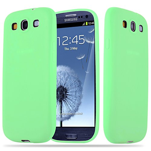 with Samsung Galaxy S3 / S3 NEO in Candy Pastel Green – Shockproof and Scratch Resistant TPU Silicone Cover – Ultra Slim Protective Gel Shell Bumper Back Skin ()