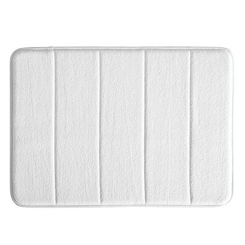 Interdesign Microfiber Bathroom Shower Accent Rug: InterDesign Microfiber Soft Memory Foam Bath Mat, Non-Slip