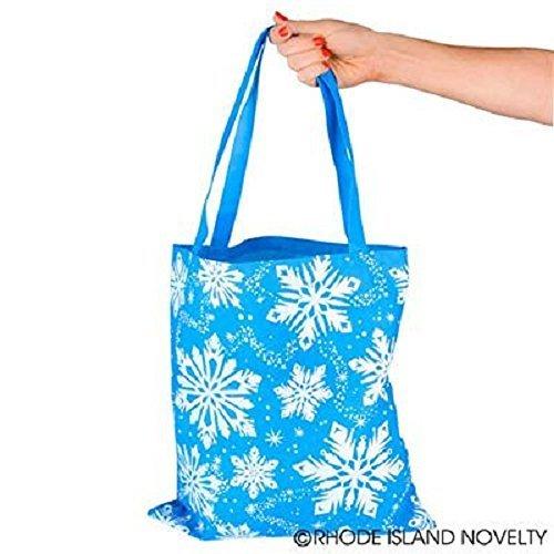 12 Snowflake Christmas/Winter tote bags (Snowflake Tote)