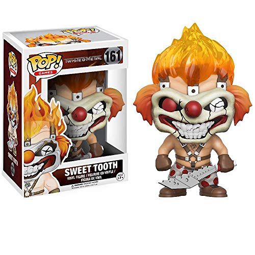 Funko Sweet Tooth: Twisted Metal x POP! Games Vinyl Figure & 1 POP! Compatible PET Plastic Graphical Protector Bundle [#161 / 11709 - B] -