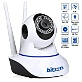 360° IP Wireless Dome Security Camera System – Mountable Full Color Motion Detection 1080p Full HD Night Vision Two Way Audio Wireless WiFi Recorder – Installation Hardware & Mounting Bracket Included