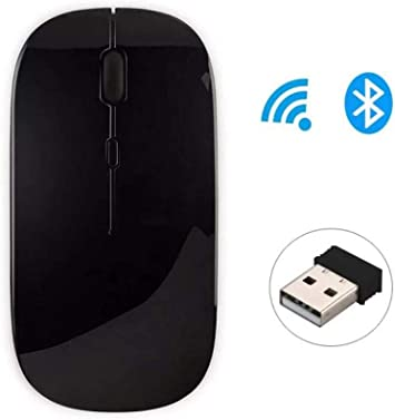 RONSHIN Wireless Gaming Mouse,2.4Ghz Mini Wireless Optical USB Receiver for PC Laptop Computers Accessories,Components Black