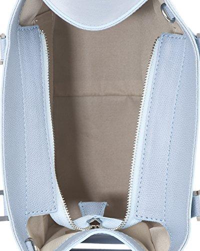 con Borsa in Sky chiusura a anteriore Laura tasca pelle con scatto Moretti R5W7Aq70
