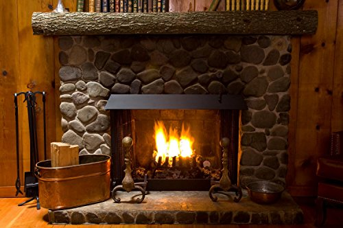 Amazon Com Wallmonkeys Close Up Stone Fireplace Log Wall Mural Peel